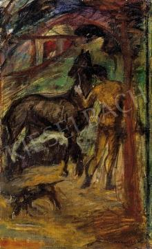 Kernstok, Károly - Male Nude with a Horse and a Dog | 4th Auction auction / 114 Item