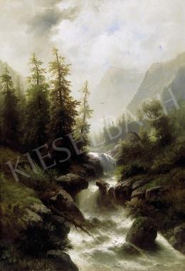 A. Giffringer jelzéssel, 19. század - Osztrák táj patakkal