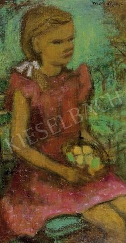 Modok Mária - Kislány gyümölcskosárral