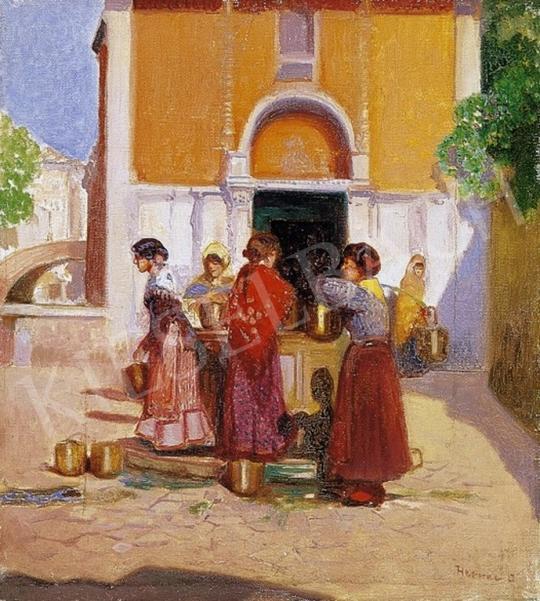 Herrer Cézár - Vízhordó lányok Velencében | 4. Aukció aukció / 223 tétel