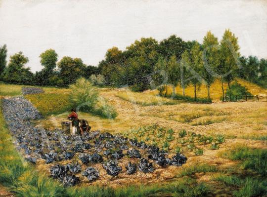 Kende Jakab (Jacques) Samu - Őszi délután a mezőn | 21. Aukció aukció / 10 tétel