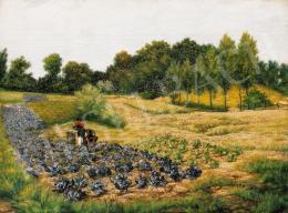 Kende Jakab (Jacques) Samu - Őszi délután a mezőn (1892)