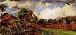 Magyar Mannheimer, Gusztáv - Windmill on the Belgian Border