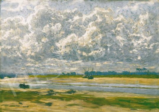 Poll Hugó - Szélfútta  felhők Bretagne-ban | 21. Aukció aukció / 12 tétel