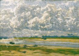 Poll Hugó - Szélfútta  felhők Bretagne-ban