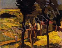 Szigeti Jenő - Házikó a fák mögött