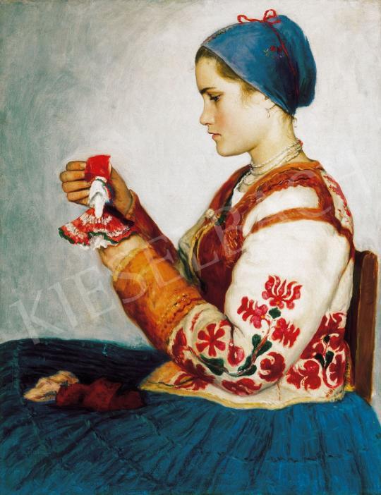 Glatz Oszkár - Kislány babával | 21. Aukció aukció / 15 tétel