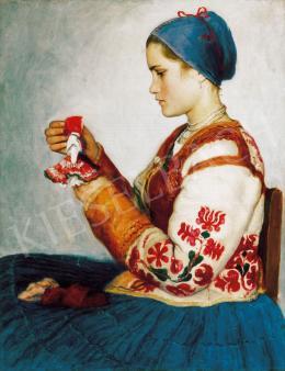 Glatz Oszkár - Kislány babával