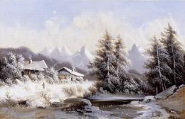 Ismeretlen osztrák festő, 19. század - Téli táj