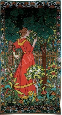 Rippl-Rónai József - Vörösruhás nő, 1898