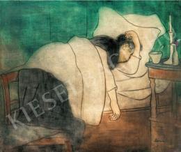 Rippl-Rónai József - Ágyban fekvő nő, 1891