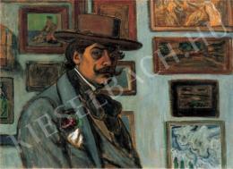 Rippl-Rónai József - Önarckép barna kalapban, 1897