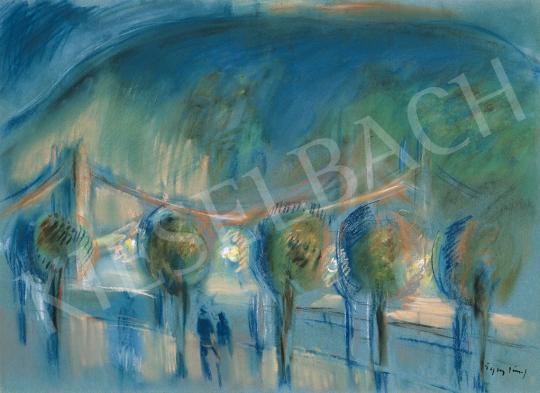 Egry József - Esti fények a Duna-parton | 21. Aukció aukció / 21 tétel