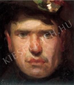 Egry József - Önarckép, 1903 körül