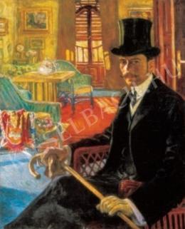 Perlmutter Izsák - Cilinderes önarckép, 1910 körül