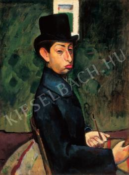 Berény, Róbert - Self-Portrait in a Top-Hat, 1907.