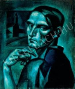 Kmetty, János - Self-Portrait (Self-Portrait in Blue), 1913.