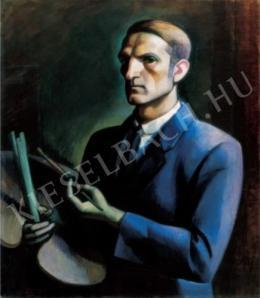 Kmetty, János - Self-Portrait with Palette, Mid-1910s.