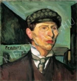 Perlrott Csaba, Vilmos - Self-Portrait, 1907. painting