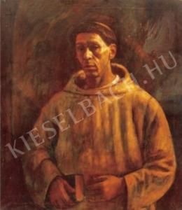 Czigány Dezső - Önarckép szerzetesruhában, 1918 körül