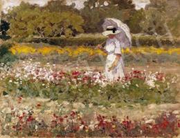 Nagybányai festő, 1910 körül - Séta a parkban