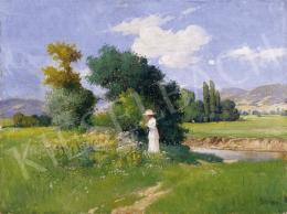 Zorkóczy, Gyula - Picking Flowers on the Brookside