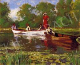 Balla, Béla - Boating on the Lake