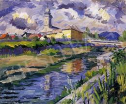 P. Kováts, Ferenc - Nagybánya Landscape