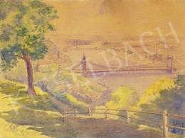 Turi-Jobbágy, József - View from the Gellérthegy with the Rácfürdő and the old Elisabeth Bridge