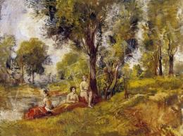Herman, Lipót - Bathers in the Open-Air