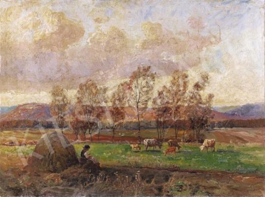 Ujváry Ignác - Délután a mezőn   3. Aukció aukció / 37 tétel