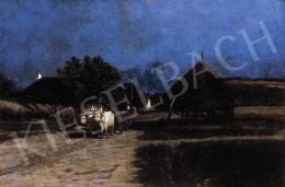 Aggházy, Gyula - Night in the Village