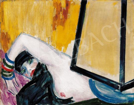 Vaszary János - Akt kék lámpával | 21. Aukció aukció / 32 tétel