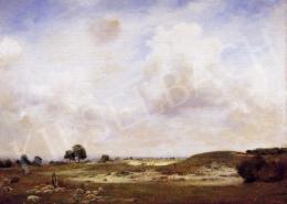 Glatter Gyula - Mező juhnyájjal, gomolyfelhőkkel