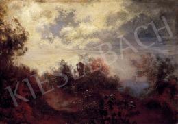 Mallitsch, Ferdinand - Romantic Landscape with Clouds Lit by Moon