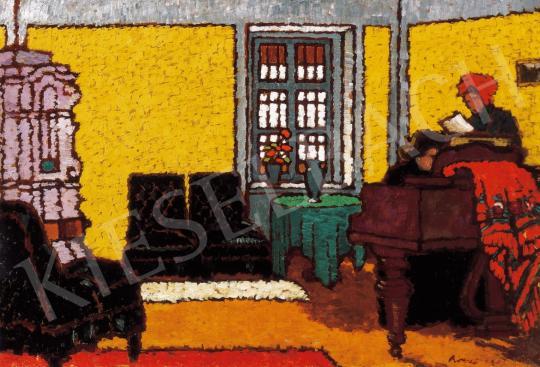 Rippl-Rónai József - Sárga zongoraszoba II. | 21. Aukció aukció / 43 tétel