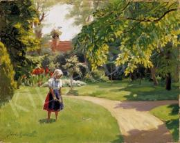 Kövér, Gyula - The Little Gardener Girl