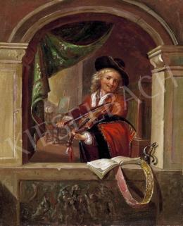 Ismeretlen festő - Hegedűs fiú
