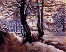Husovszky János - Téli kert Nagybányán