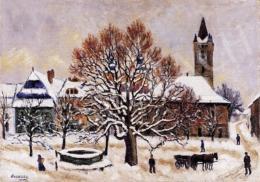 Husovszky János - Nagybányai táj télen