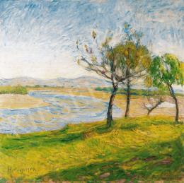 Hollósy Simon - Tavasz a patakparton (1916)