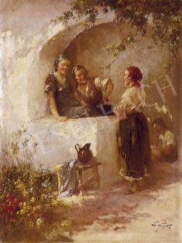 Ács Ágoston - Lányok a napfényes tornácon