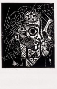 Hincz Gyula - Bartók pásztori furulya festménye