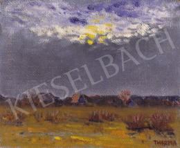 Thorma János - Tájkép holddal, felhők mögött