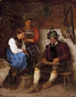 Ismeretlen festő, 19. század vége - A citerázó