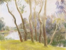 Szobotka, Imre - Riverside with Trees