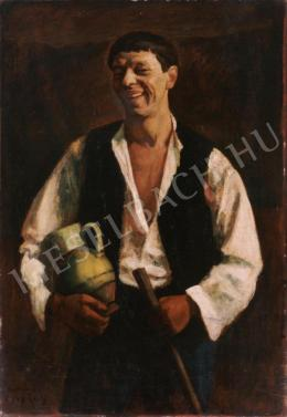 Czigány, Dezső - Laughing Self-Portrait