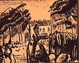 Nemes Lampérth József - Táj házakkal