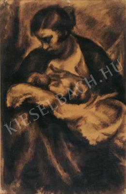 Uitz Béla - Anya gyermekével
