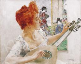 Karlovszky Bertalan - Nő mandolinnal
